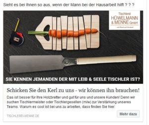 Facebook Werbung Hüwellmann Menne