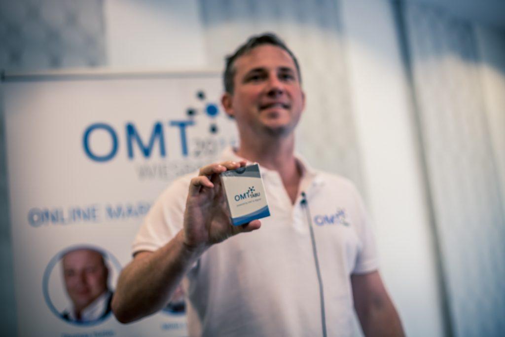 Veranstalter Mario Jung beim Online Marketing Tag (OMT)