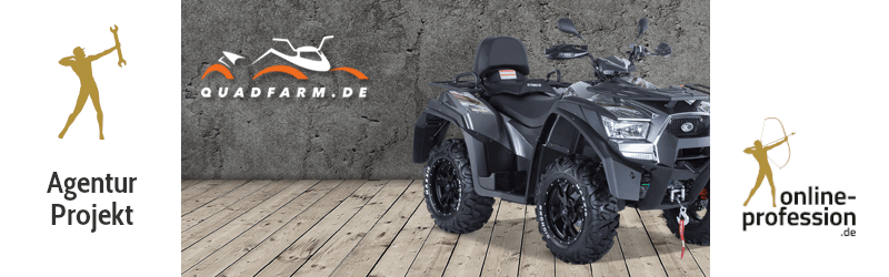 Livegang von Quadfarm: ATVs und Quads vom Experten