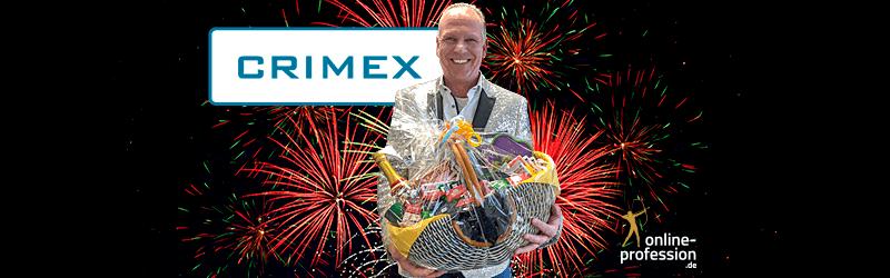 20 Jahre CRIMEX® – Online-Profession gratuliert!