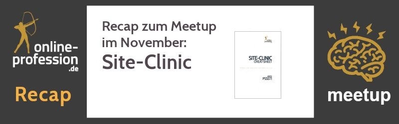 16. Münster-Online-Marketing-Meetup: Site-Clinic