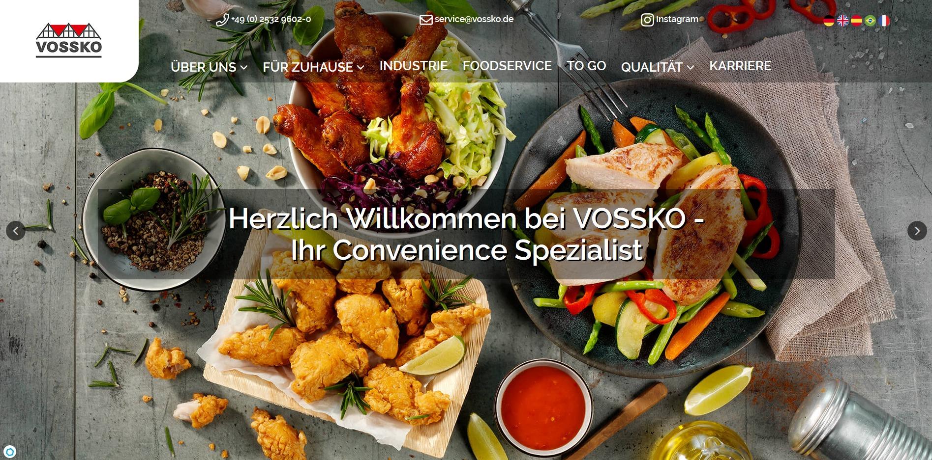 Startseite von Vossko