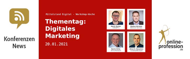 Digitales Marketing bei der Mittelstand 4.0 Workshop-Woche